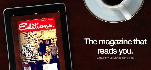 AOL Editions iPad app