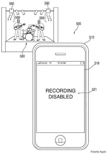Apple IR cam patent