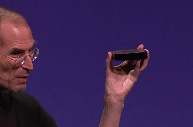 Steve Jobs with Apple TV
