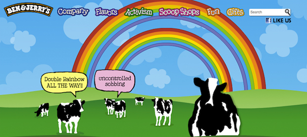 Ben and Jerry's double rainbow ad