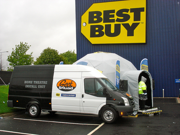 Best Buy Geek Squad van