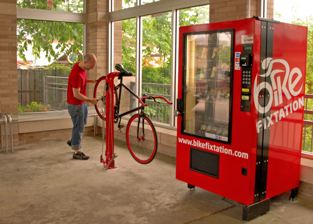 Bike Repair Tools Bike Fixtation: The Bike Repair Vending Machine That Sells ...