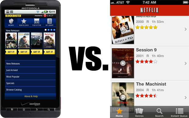 Netflix vs. Blockbuster on mobile