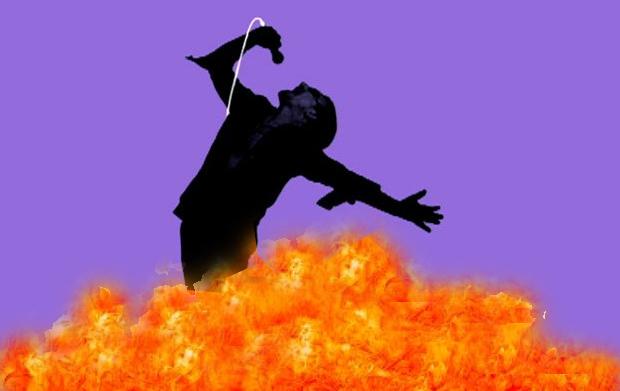 Bono on fire