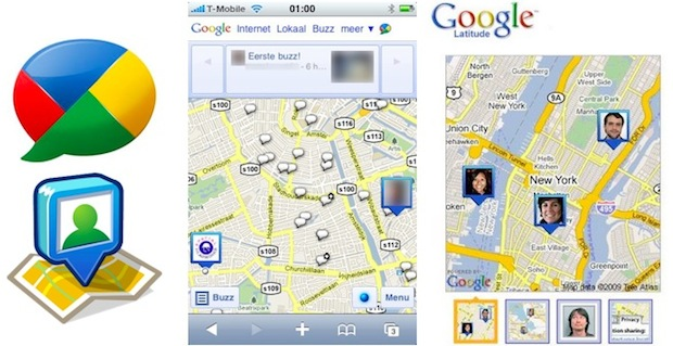 google buzz latitude