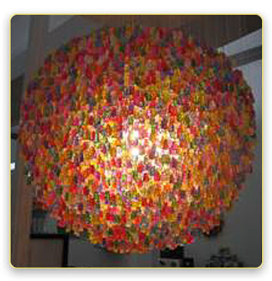 candy chandelier