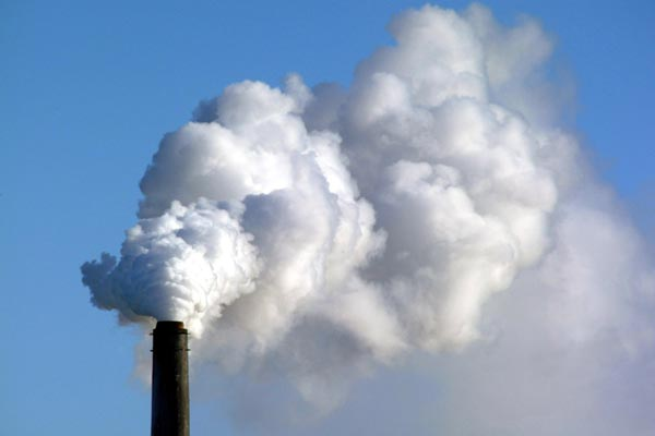 polluting smokestack