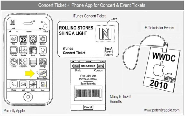 Apple concert ticket patent