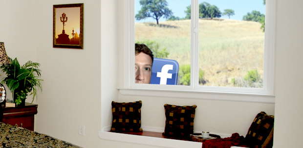 Facebook in window