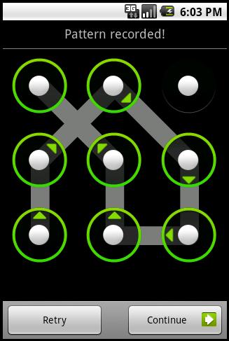 droid unlock pattern