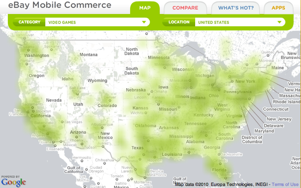 eBay heat map