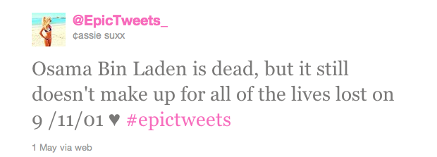 bin laden tweet stats