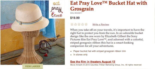 Eat Pray Love bucket hat