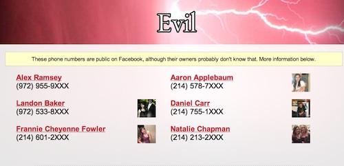Evil Web app