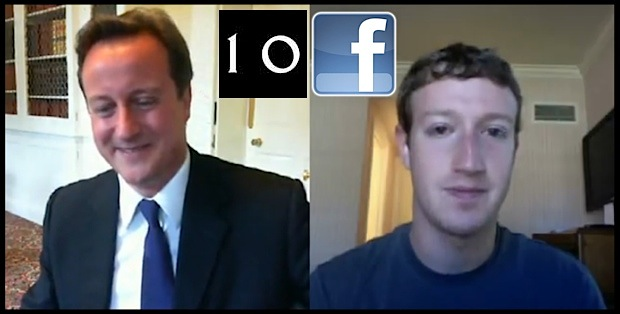 Zuckerberg and David Cameron
