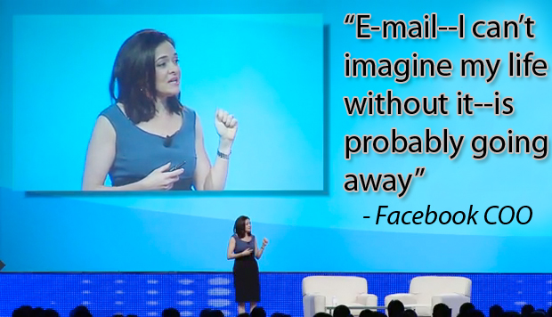 Facebook COO Sheryl Sandberg Is Embracing the End of Email, Here's Why