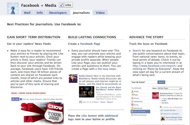 Facebook + Media page