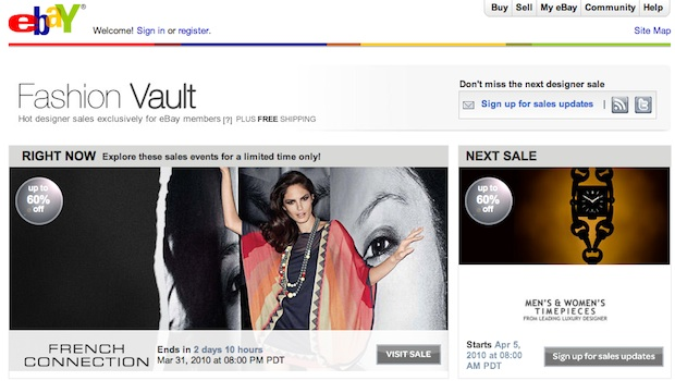 ebay fashion vault