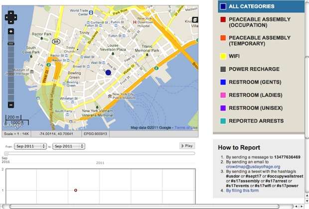 Protest On Wall Street Is Louder Online Than Off - Occupy wall street us map