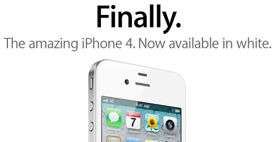 Apple's Finally White iPhone page