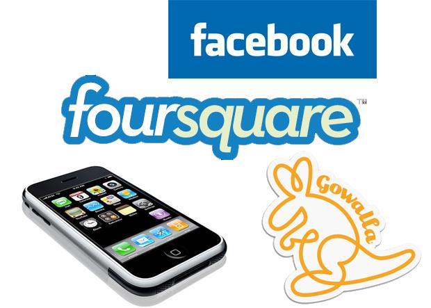 Facebook Foursquare Gowalla