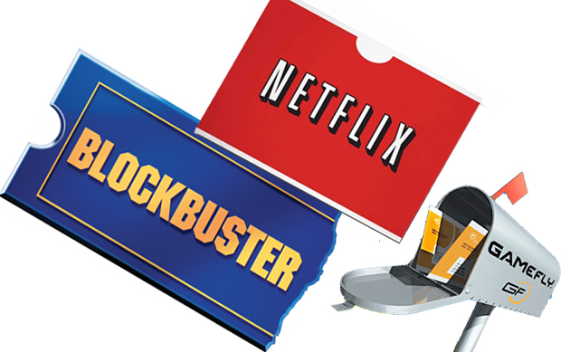 GameFly Blockbuster Netflix