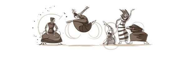 Google Martha Graham dance doodle