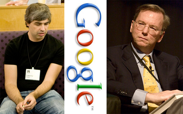 Larry Page Eric Schmidt of Google