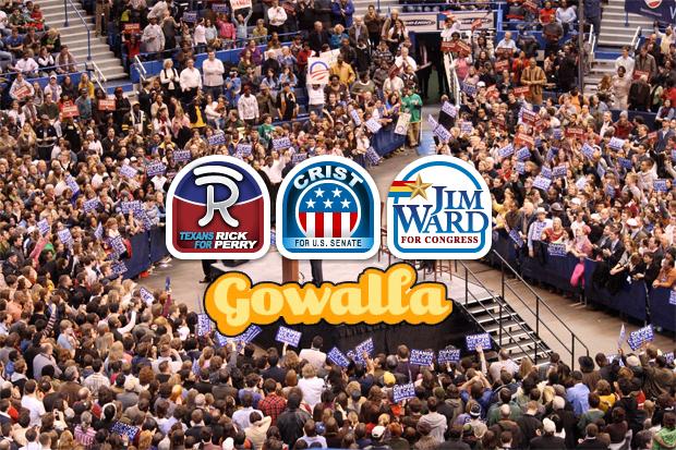 Gowalla political campaigns