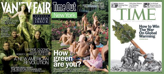 green magazines