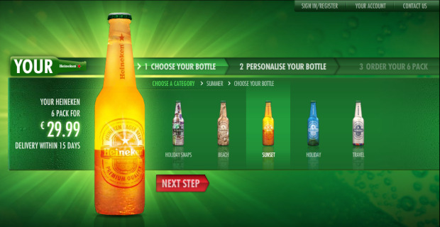 Heineken Customized Bottles