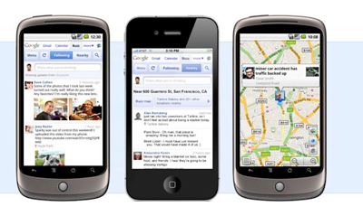 Google Buzz on smartphones