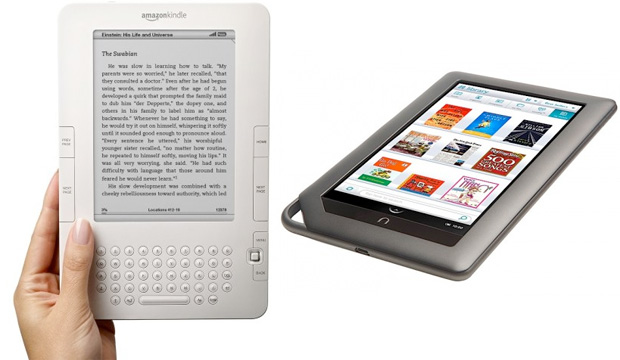 Kindle and Nook e-readers