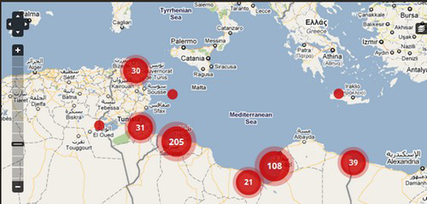 Heres a map of the humanitarian crisis hotspots in libya dont tell libya crisis map gumiabroncs Image collections