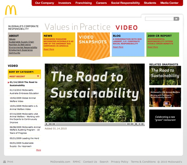 mcdonalds sustainability