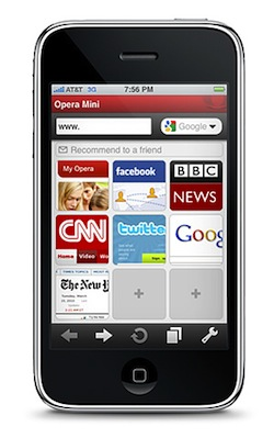 iPhone Opera Mini
