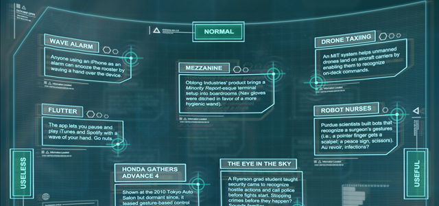Those Crazy Gesture Based Gadgets From Minority Report