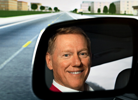 Ceo alan mulally ford still in black but also green for Ford motor company alan mulally