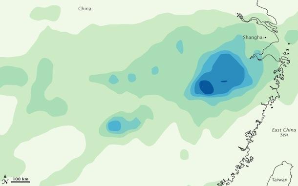 China rain map