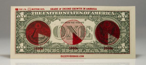 Occupy Wallstreet- Infographic on Dollar Bill