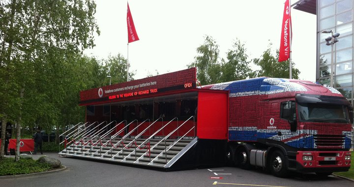 Vodafone charging truck