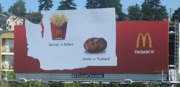McDonald's localwashing billboard