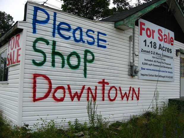 Please Shop Downtown