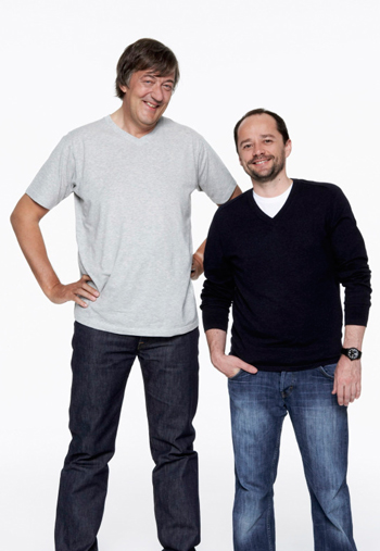 Stephen Fry and Andrew Sampson
