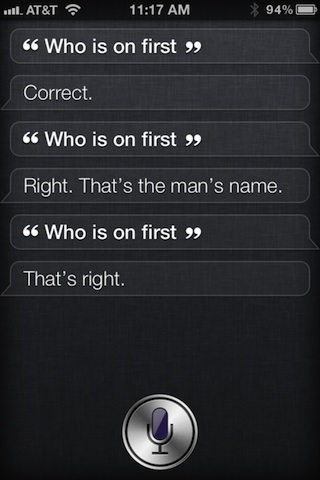 siri first base