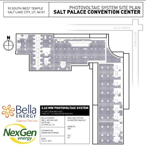 Salt Palace rooftop solar installation plans