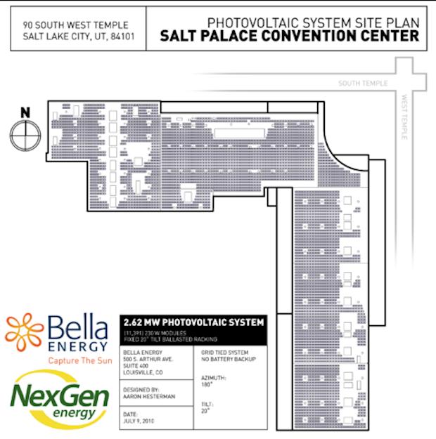 Salt Palace rooftop solar installation plans