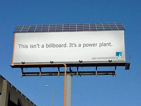 PGandE solar billboard