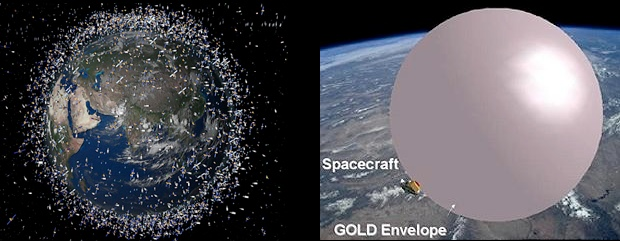 space junk GOLD balloon