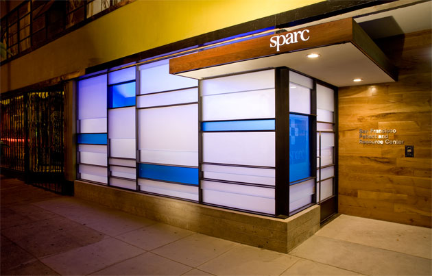 SPARC pot dispensary store front. Located at 1256 Mission, San Francisco, CA 94103. Store Hours: Tues-Sat 11:00 a.m. to 7:00 p.m. and Sundays 12:00 noon to 5:00 p.m.
